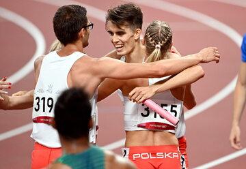 Polska sztafeta podczas igrzysk olimpijskich w Tokio