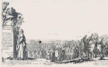 Polskie poselstwo w Rzymie w 1633 r. Rycina autorstwa włoskiego rytownika Stefano della Belli