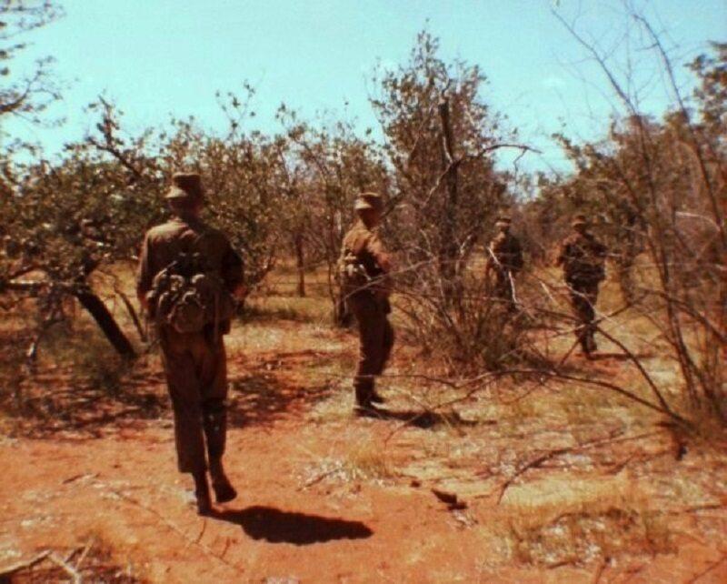Południowoafrykańscy żołnierze w trakcie walk w Angoli
