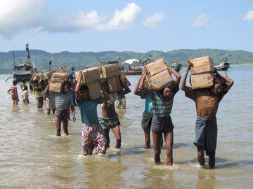 Pomoc humanitarna w Birmie, zdjęcie ilustracyjne
