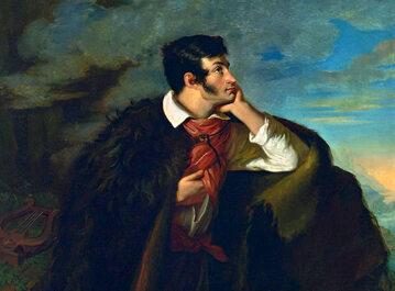 """""""Portret Adama Mickiewicza na Judahu skale"""" - obraz Walentego Wańkowicza namalowany w latach 1827–1828"""