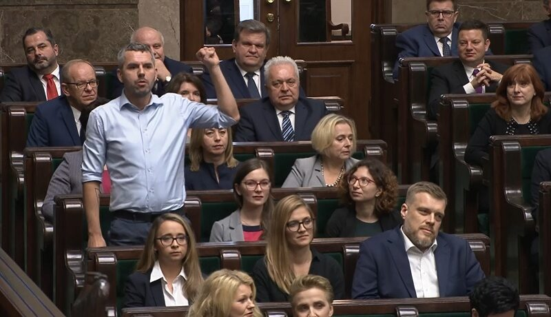 Poseł Maciej Konieczny w Sejmie