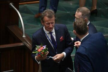 Poseł niezrzeszony Zbigniew Ajchler w Sejmie
