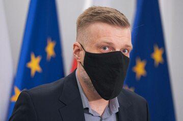Poseł partii Razem Adrian Zandberg