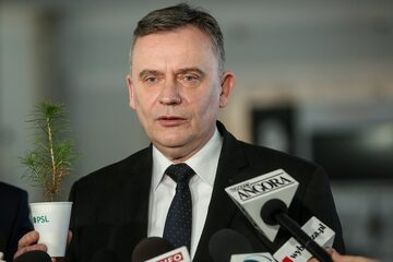 Poseł PSL Paweł Bejda w Sejmie