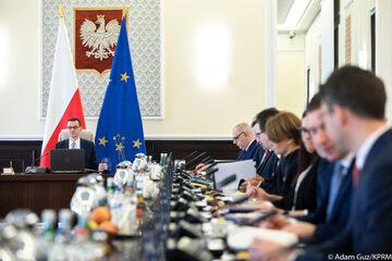 Posiedzenie rządu pod przewodnictwem premiera Mateusza Morawieckiego