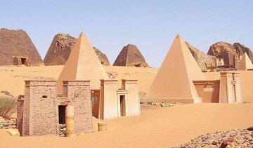 Pozostałości po Królestwie Kusz, Nubia (dzisiejszy Sudan)