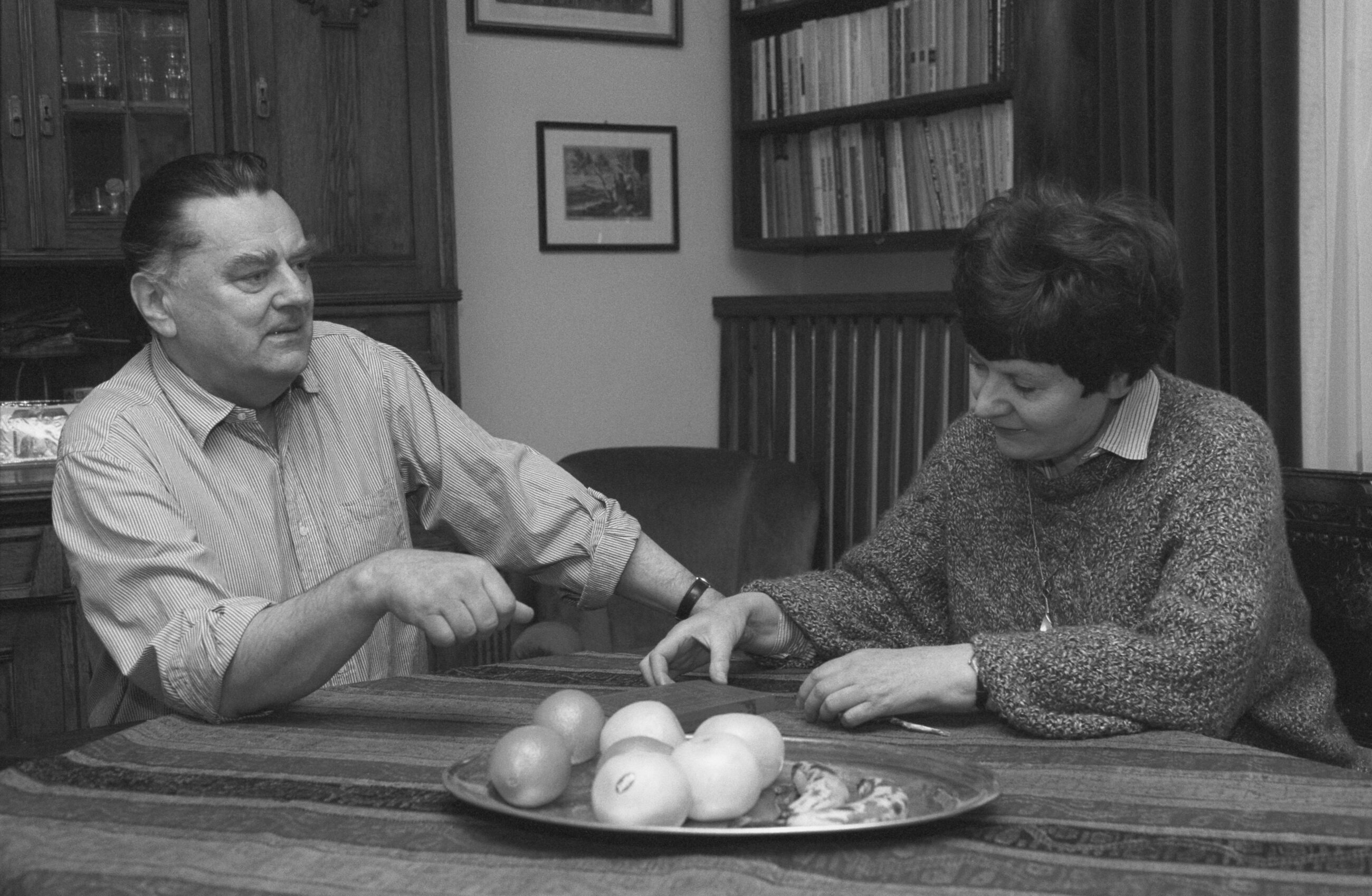 Premier Jan Olszewski z żoną Martą