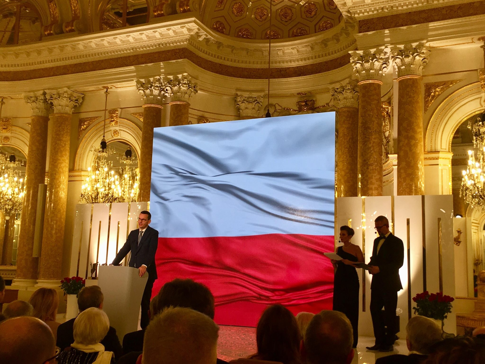 Premier Mateusz Morawiecki podczas gali Strażnik Pamięci