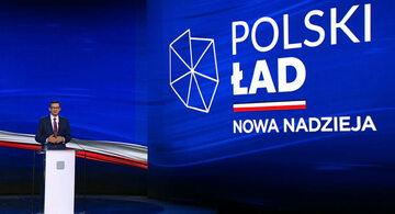 Premier Mateusz Morawiecki podczas prezentacji Polskiego Ładu