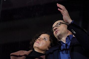 Premier Mateusz Morawiecki z żoną Iwoną Morawiecką