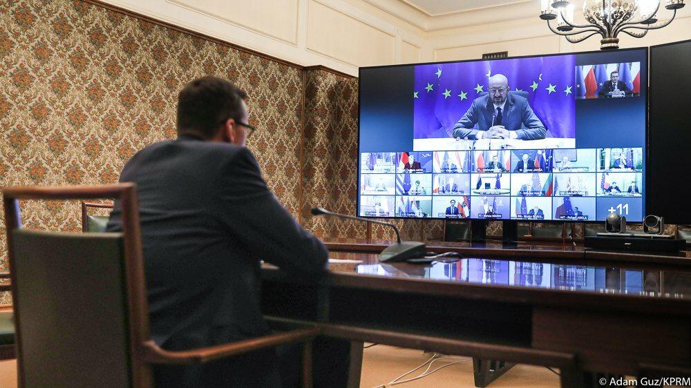 Premier uczestniczy w wideokonferencji liderów państw UE