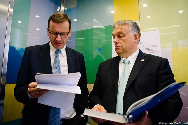 Premierzy Mateusz Morawiecki i Viktor Orban w Brukseli