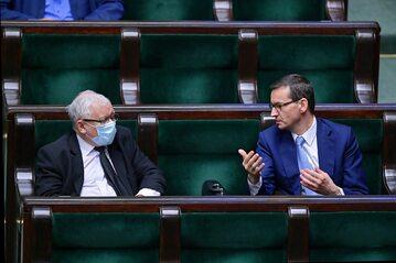 Prezes PiS Jarosław Kaczyński i premier Mateusz Morawiecki