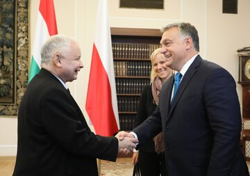 Prezes PiS Jarosław Kaczyński i premier Węgier Viktor Orban