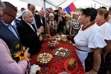 Prezes PiS Jarosław Kaczyński na pikniku rodzinnym w Kuczkach-Kolonii