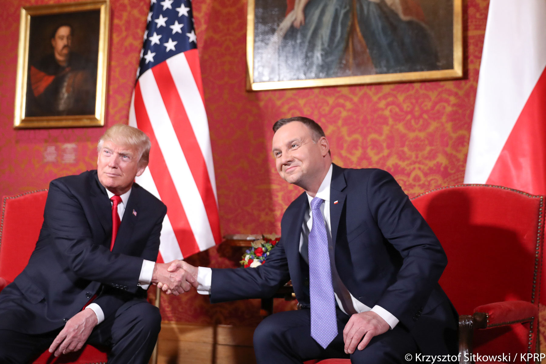 Prezydenci Polski i USA, Andrzej Duda i Donald Trump