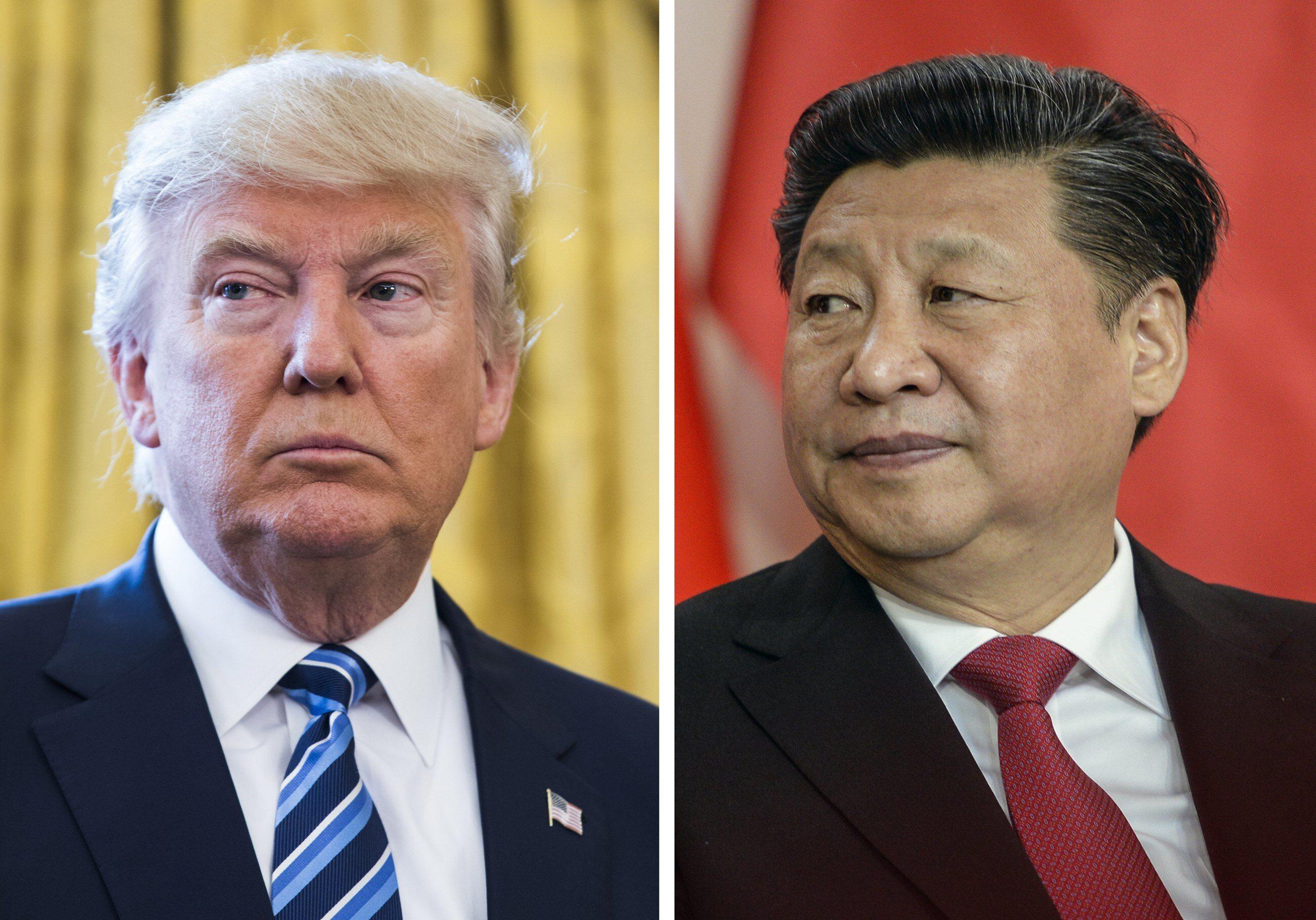 Prezydenci USA i Chin: Donald Trump i Xi Jinping