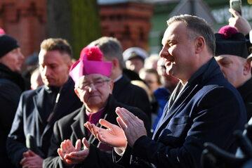Prezydent Andrzej Duda i abp Sławoj Leszek Głódź