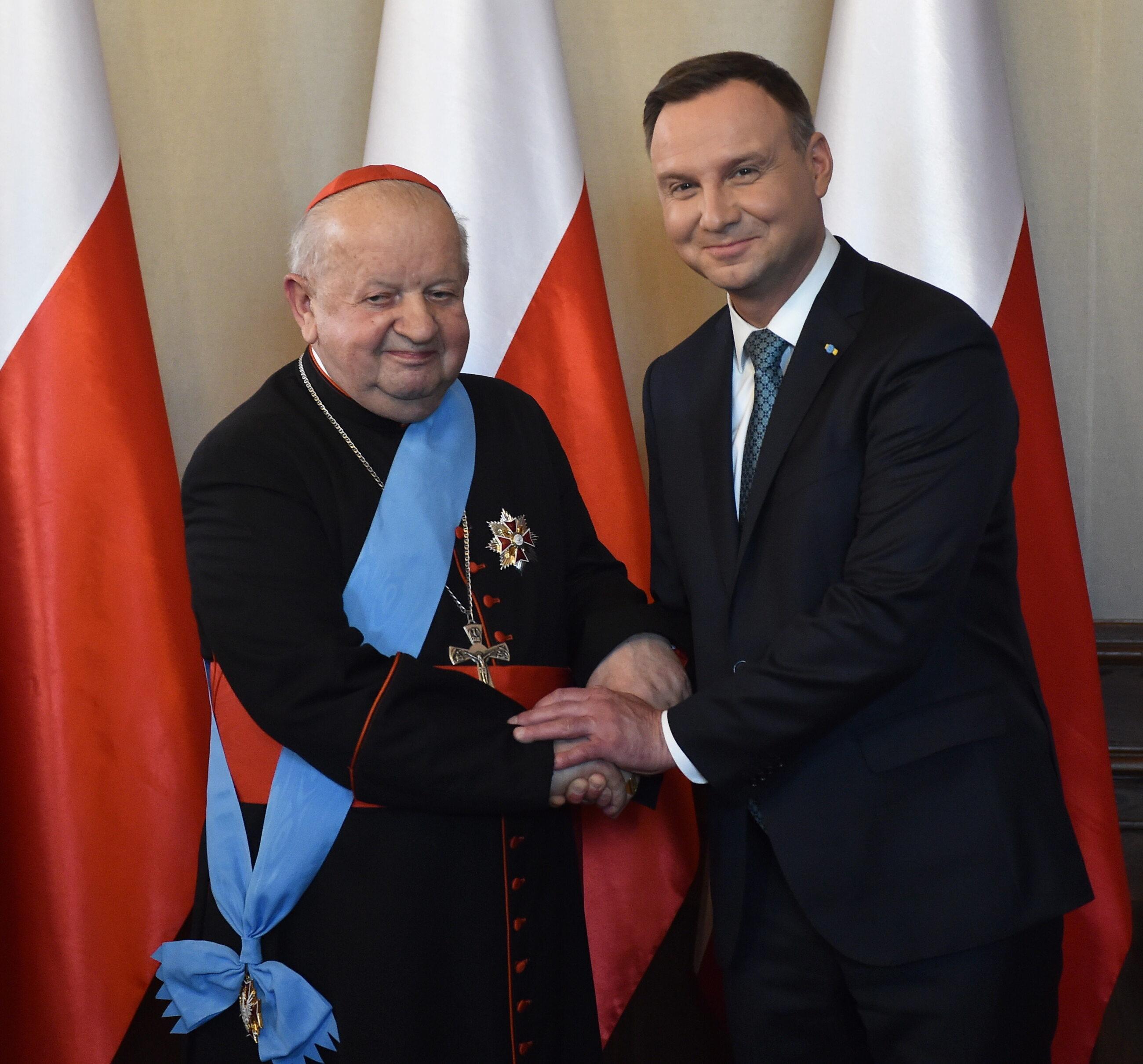 Prezydent Andrzej Duda i kardynał Stanisław Dziwisz