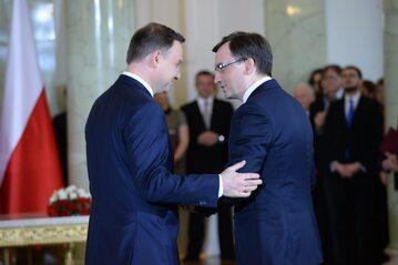 Prezydent Andrzej Duda i minister Zbigniew Ziobro