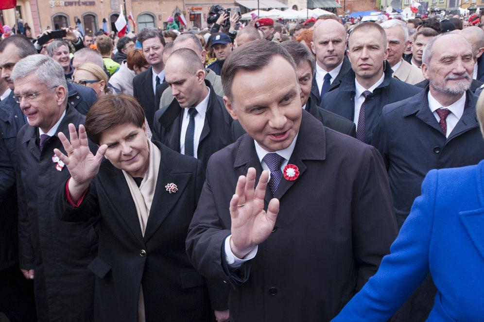 Prezydent Andrzej Duda i premier Beata Szydło