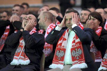 Prezydent Andrzej Duda oglądał mecz Polska-Kolumbia