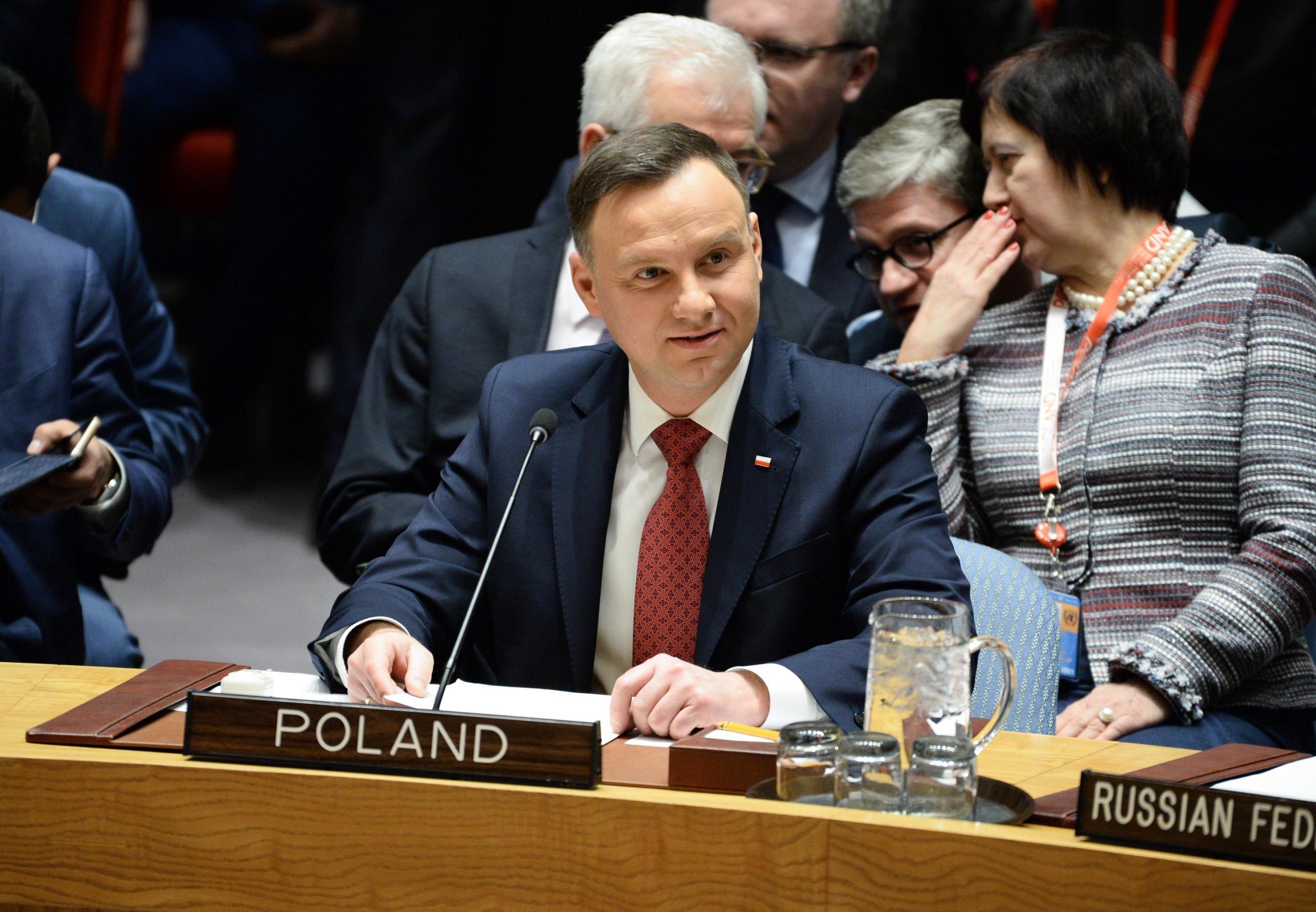 Prezydent Andrzej Duda podczas posiedzenia Rady Bezpieczeństwa ONZ