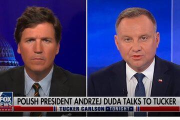Prezydent Andrzej Duda podczas wywiadu dla amerykańskiej stacji Fox News