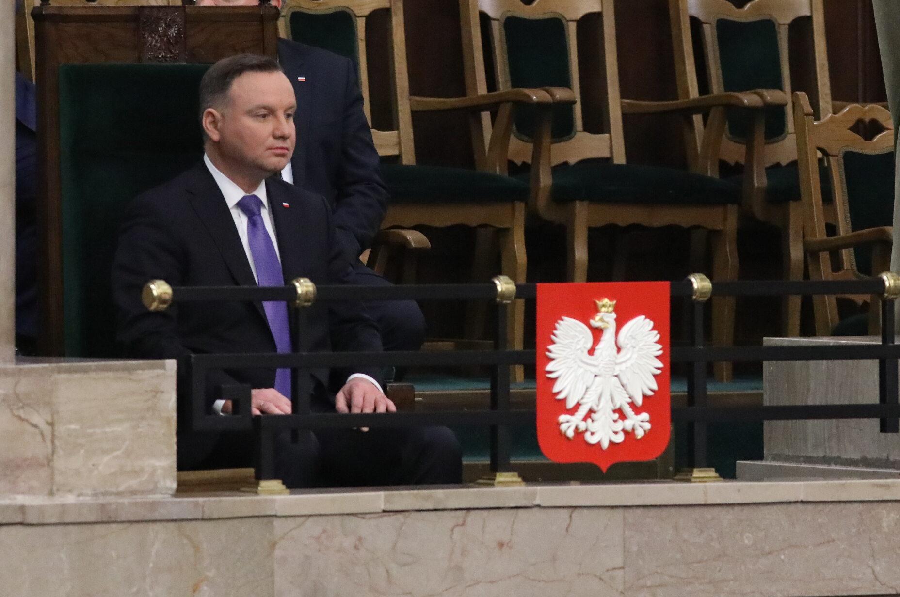 Prezydent Andrzej Duda w Sejmie