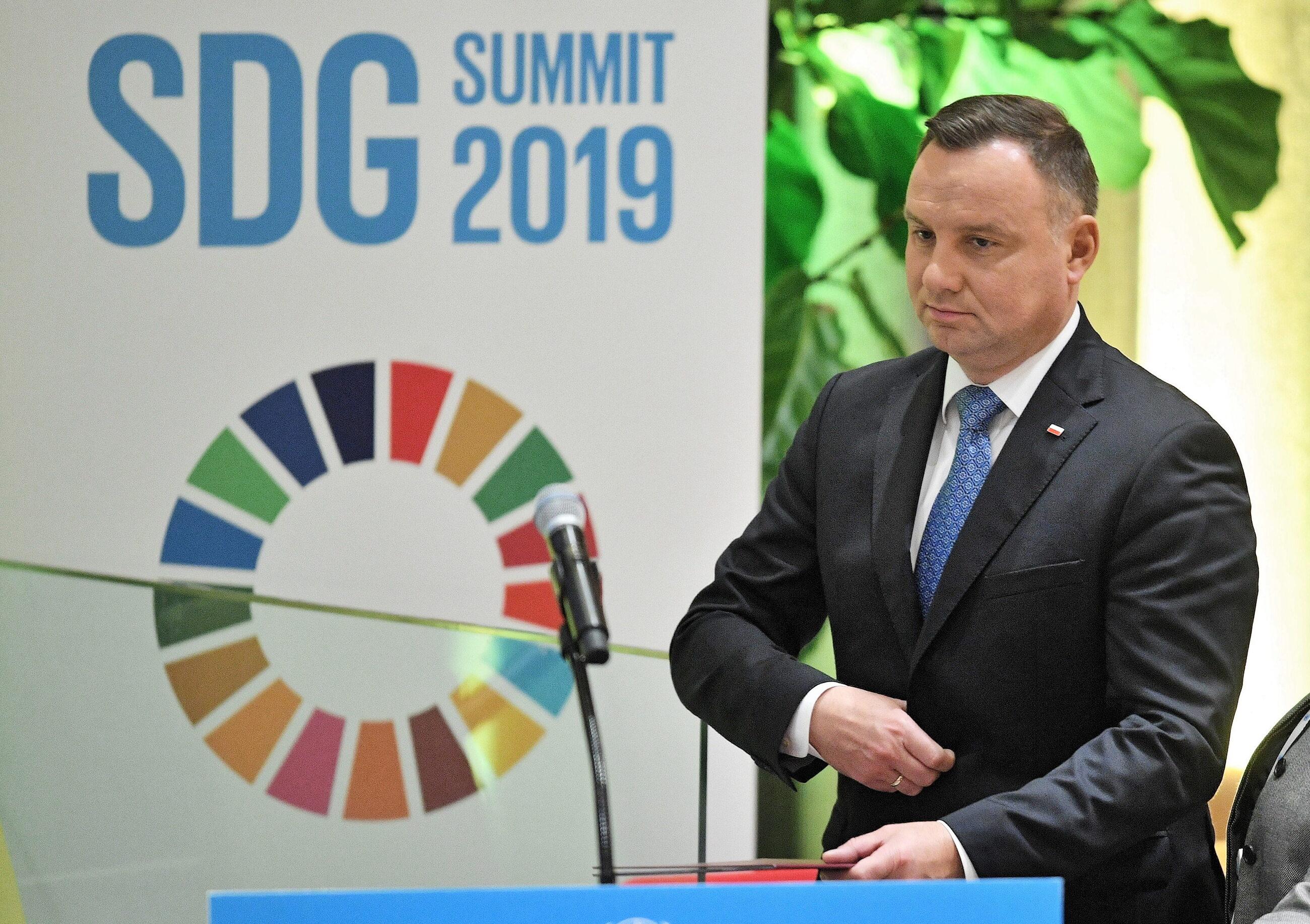 Prezydent Andrzej Duda w siedzibie ONZ
