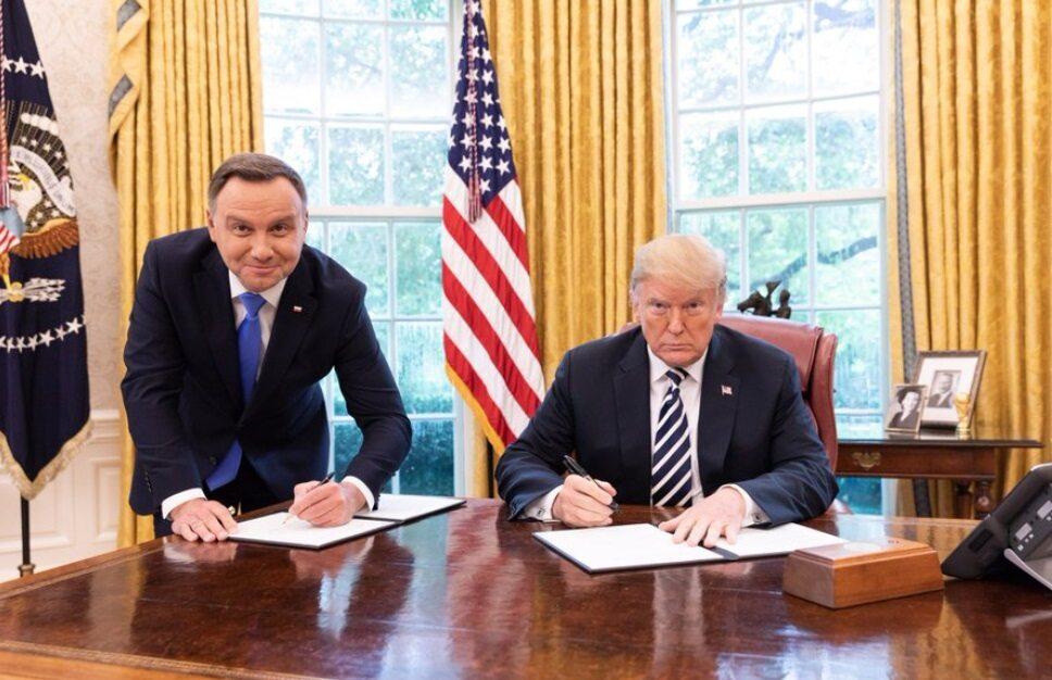 Prezydent Duda i prezydent Trump w Białym Domu