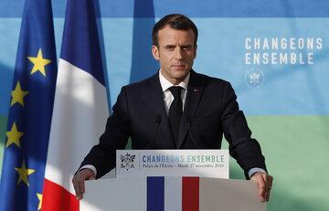 Prezydent Francji Emmanuele Macron