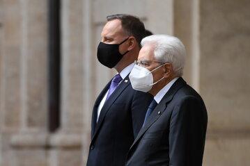 Prezydent RP Andrzej Duda i prezydent Republiki Włoskiej Sergio Mattarella