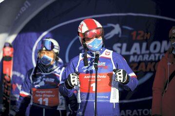 """Prezydent RP Andrzej Duda podczas inauguracji """"12H Slalom Maraton Zakopane 2021"""""""