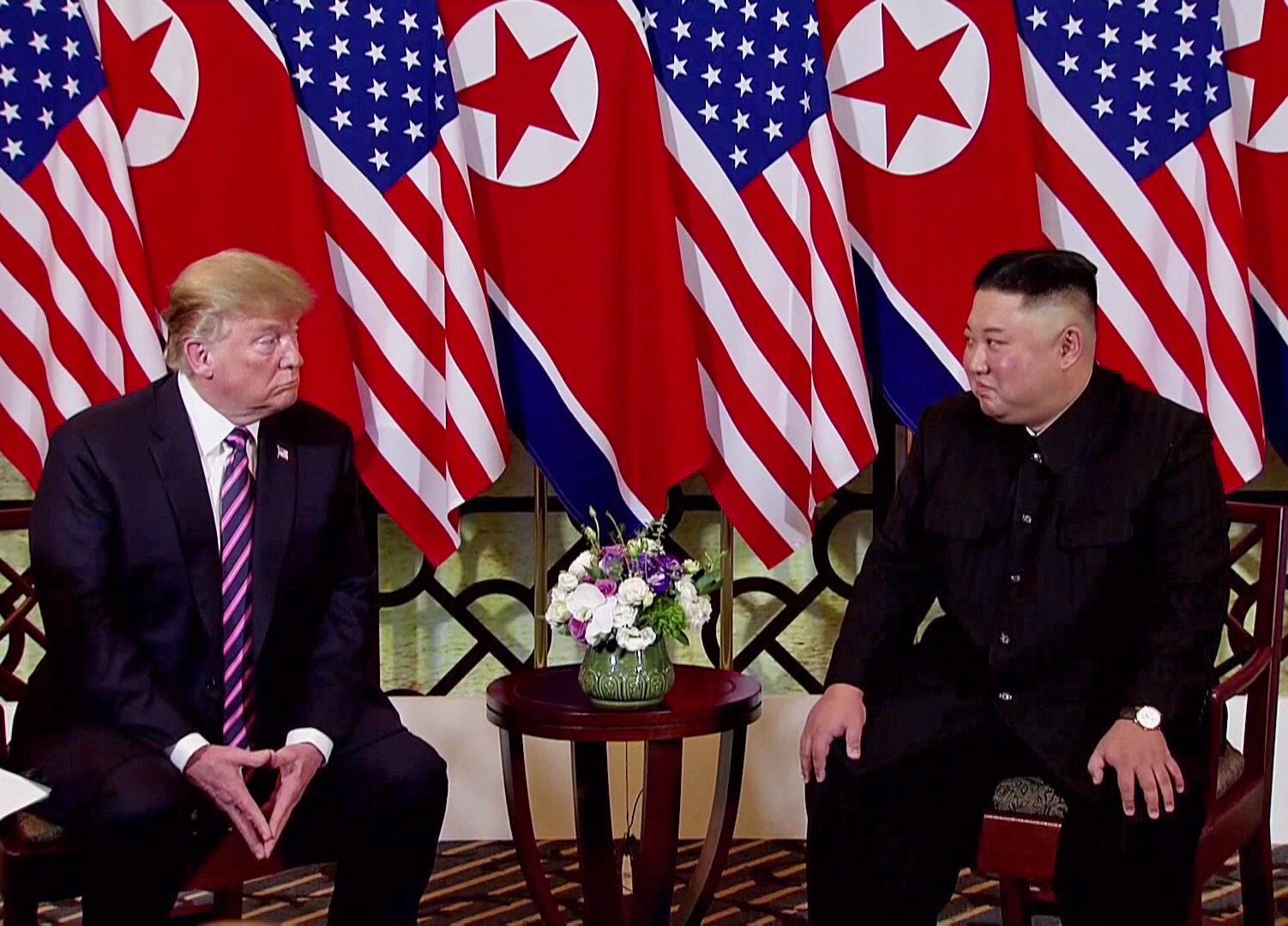 Prezydent USA Donald Trump i przywódca Korei Północnej Kim Dzong Un