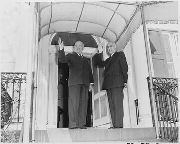 Prezydent USA, Harry Truman i premier Iranu, Mohammad Mosaddegh
