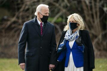 Prezydent USA Joe Biden wraz z żoną Jill Biden
