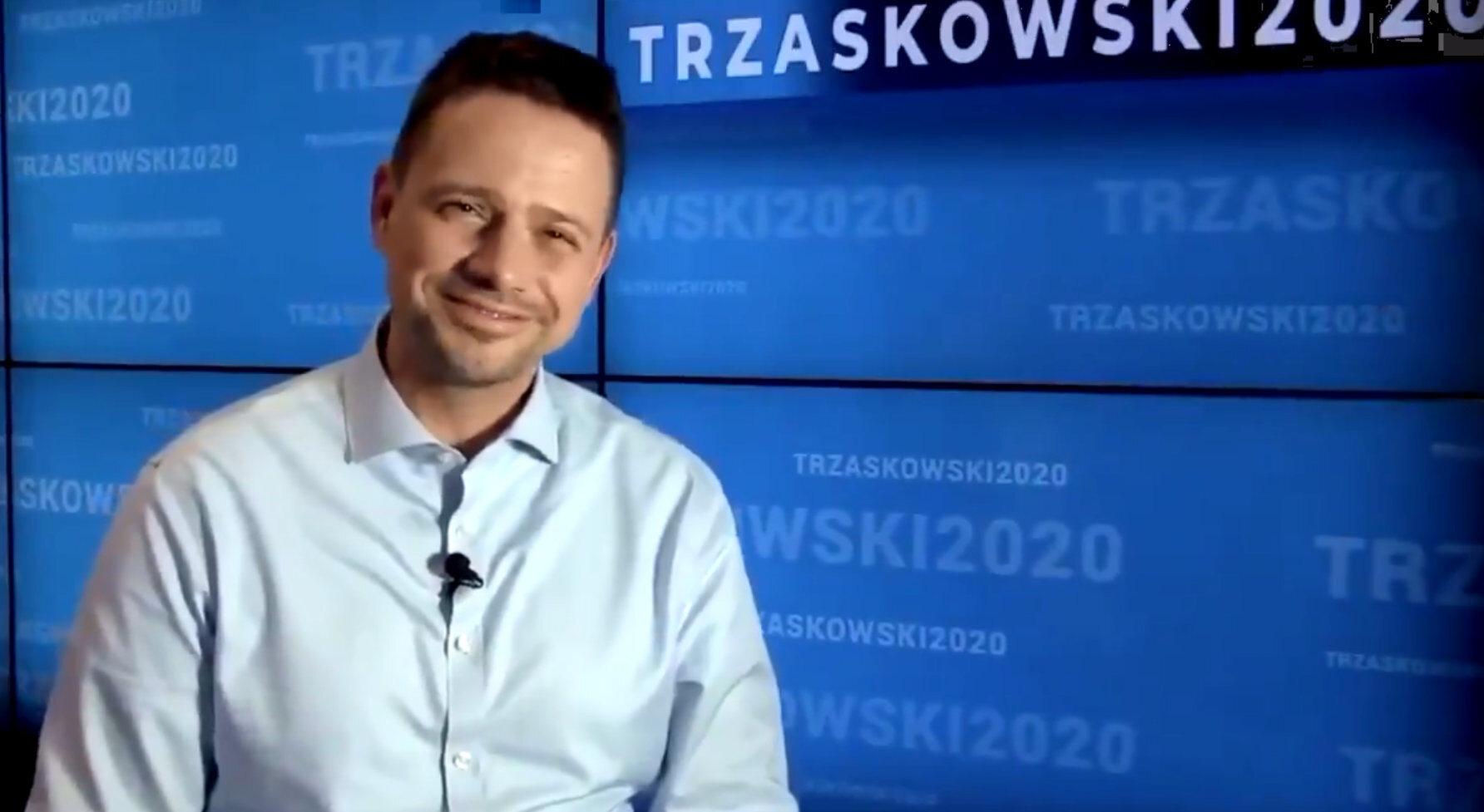 Prezydent Warszawy, kandydat KO na prezydenta Rafał Trzaskowski.
