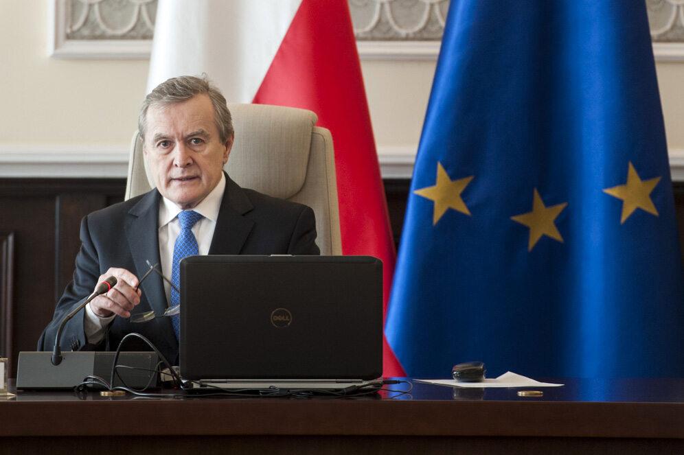 Prof. Piotr Gliński podczas posiedzenia rządu