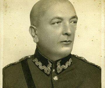 Prof. Władysław Dzierżyński w mundurze WP (początek l. 30-tych)