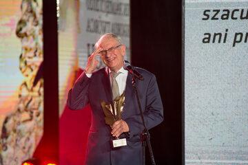 Prof. Wojciech Roszkowski na gali Strażnik Pamięci