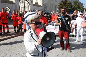 Protest medyków, Warszawa
