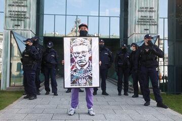 Protest pod siedzibą Sądu Najwyższego