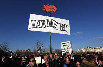 Protest przeciwko obostrzeniom w Bukareszcie