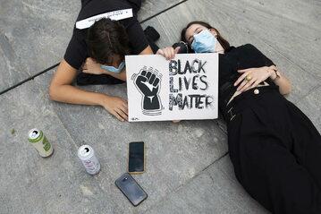 Protest przeciwko rasizmowi.