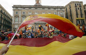 Protest przed referendum ws. niepodległości Katalonii