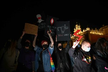 Protest środowisk proaborcyjnych