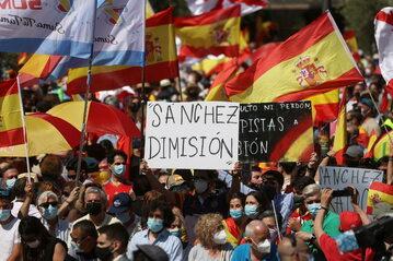 Protest w Madrycie, zdjęcie ilustracyjne