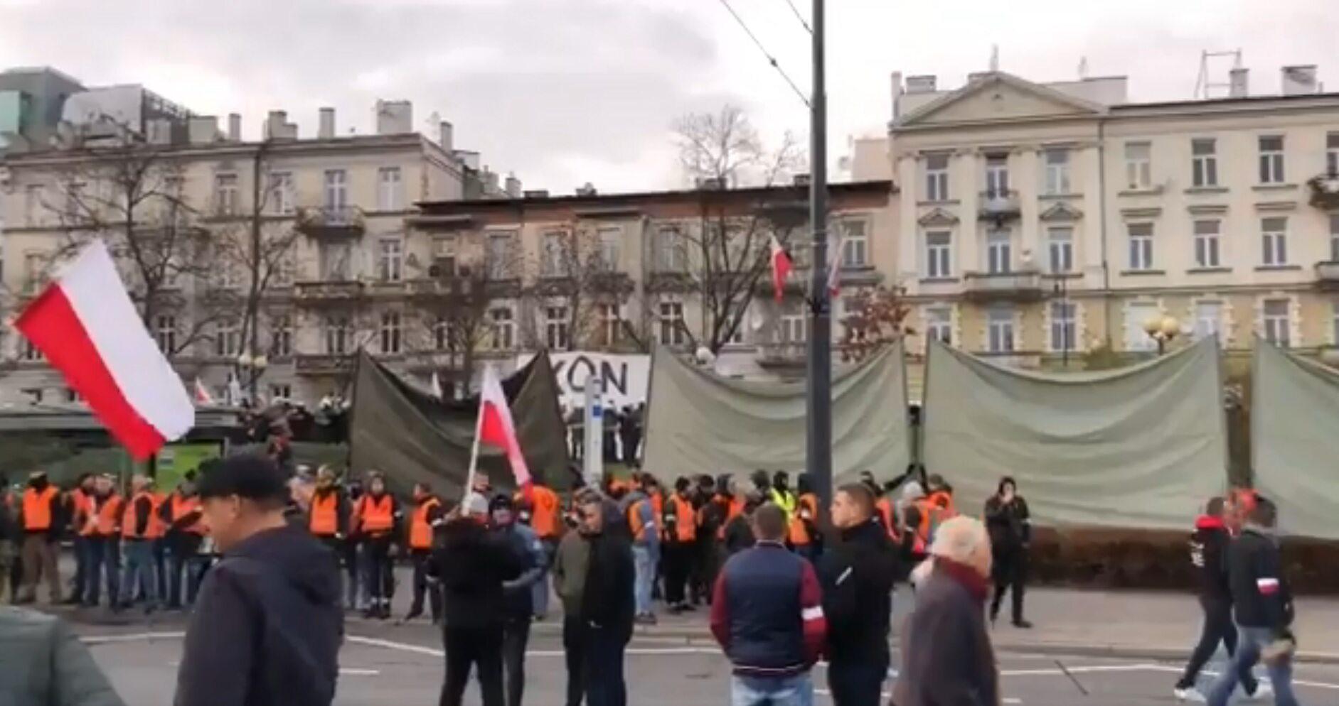 Prowokacja KOD na Marszu Niepodległości